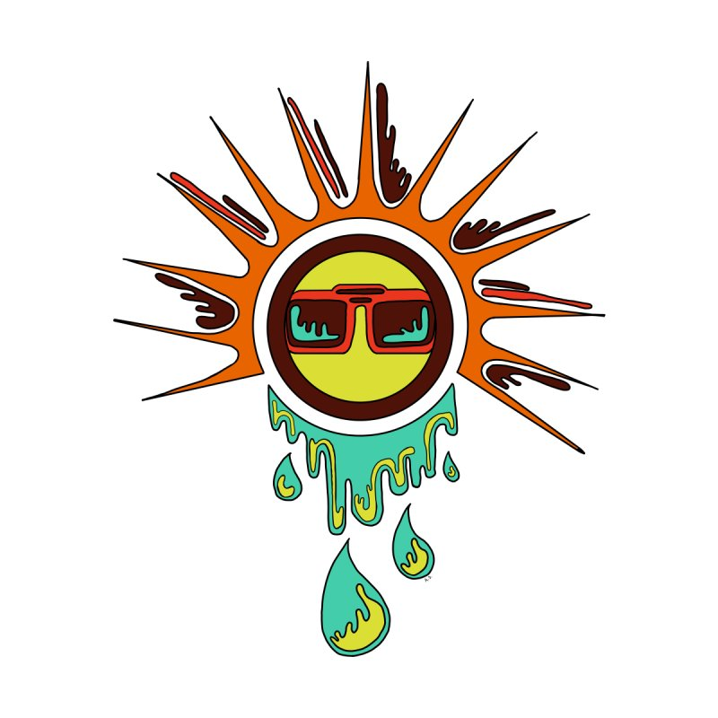 Melting Sun Accessories Sticker by Alison Sommer's Artist Shop