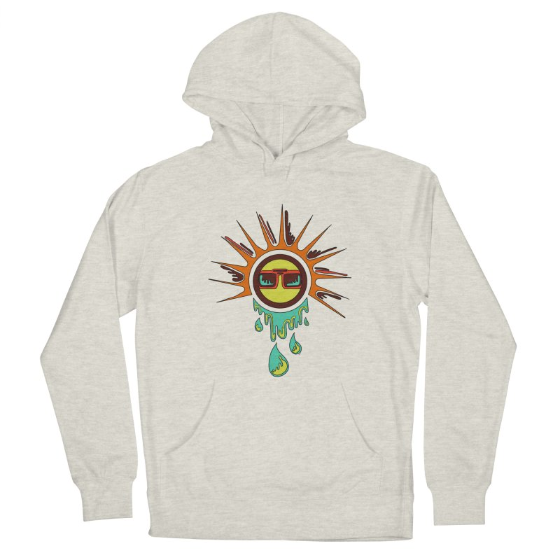 Melting Sun Men's French Terry Pullover Hoody by Alison Sommer's Artist Shop