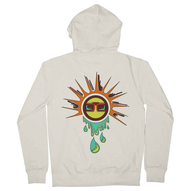 Melting Sun Women's French Terry Zip-Up Hoody by Alison Sommer's Artist Shop