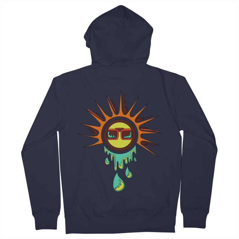 Melting Sun Women's Zip-Up Hoody by Alison Sommer's Artist Shop