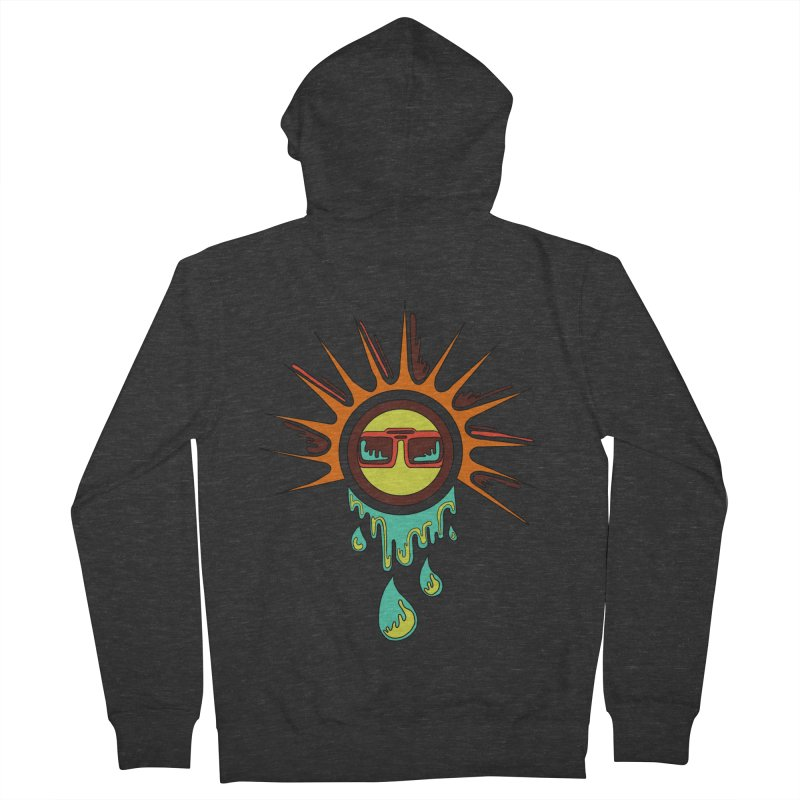 Melting Sun Men's French Terry Zip-Up Hoody by Alison Sommer's Artist Shop