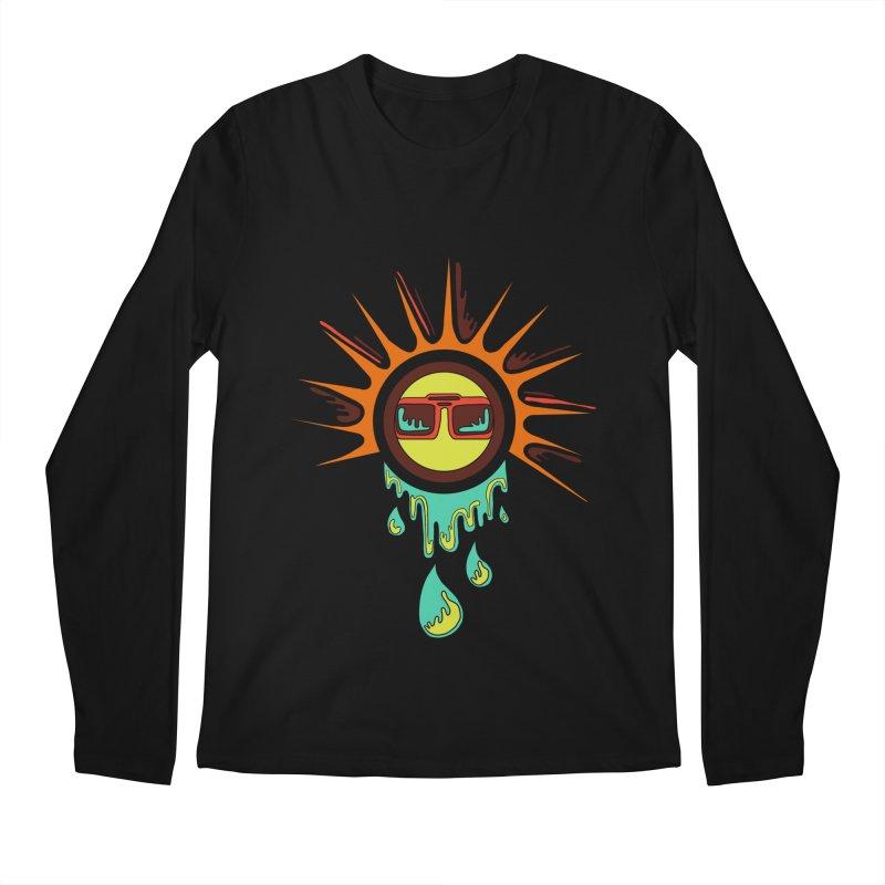 Melting Sun Men's Longsleeve T-Shirt by Alison Sommer's Artist Shop