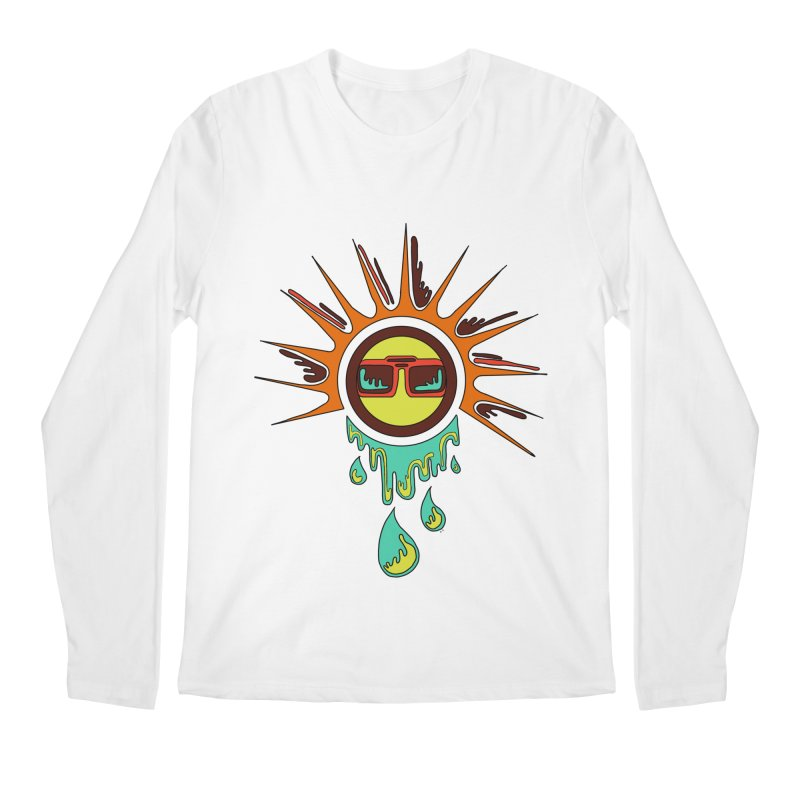 Melting Sun Men's Regular Longsleeve T-Shirt by Alison Sommer's Artist Shop