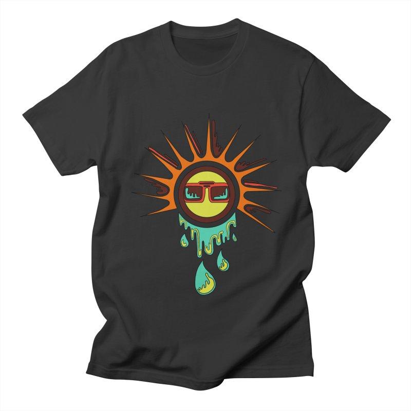 Melting Sun Men's T-Shirt by Alison Sommer's Artist Shop