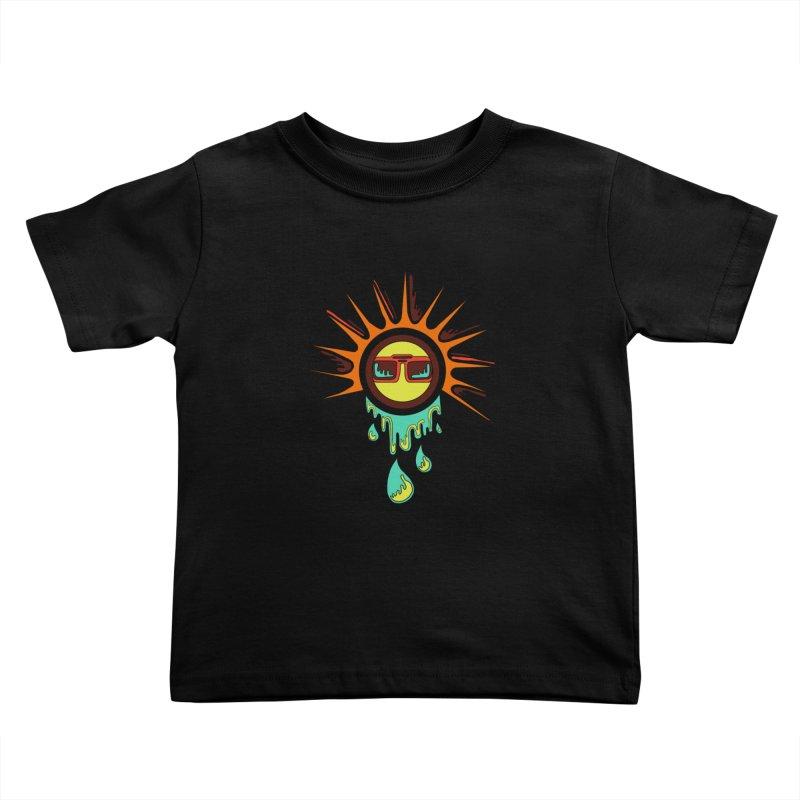 Melting Sun Kids Toddler T-Shirt by Alison Sommer's Artist Shop