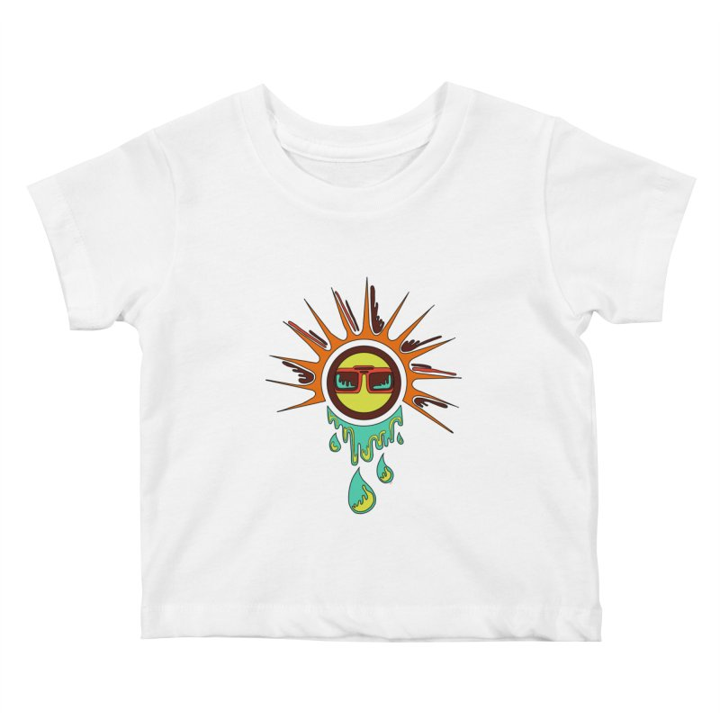 Melting Sun Kids Baby T-Shirt by Alison Sommer's Artist Shop