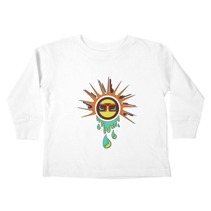 Melting Sun Kids Toddler Longsleeve T-Shirt by Alison Sommer's Artist Shop
