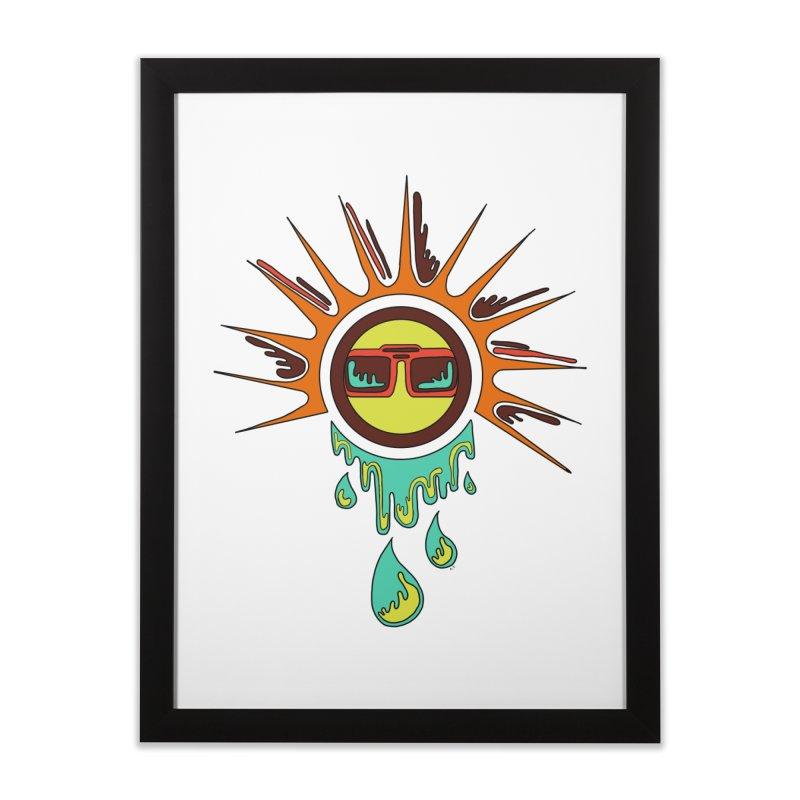 Melting Sun Home Framed Fine Art Print by Alison Sommer's Artist Shop
