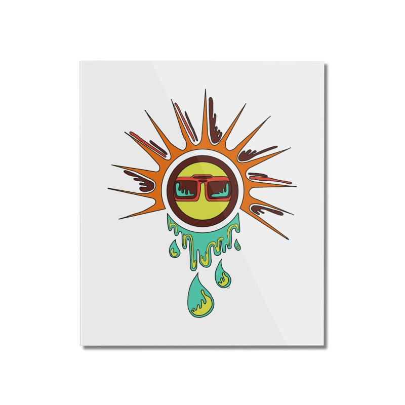 Melting Sun Home Mounted Acrylic Print by Alison Sommer's Artist Shop