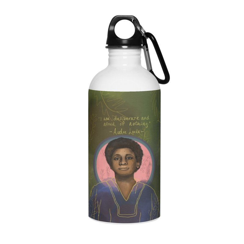 Audre Lorde Accessories Water Bottle by Alison Sommer's Artist Shop