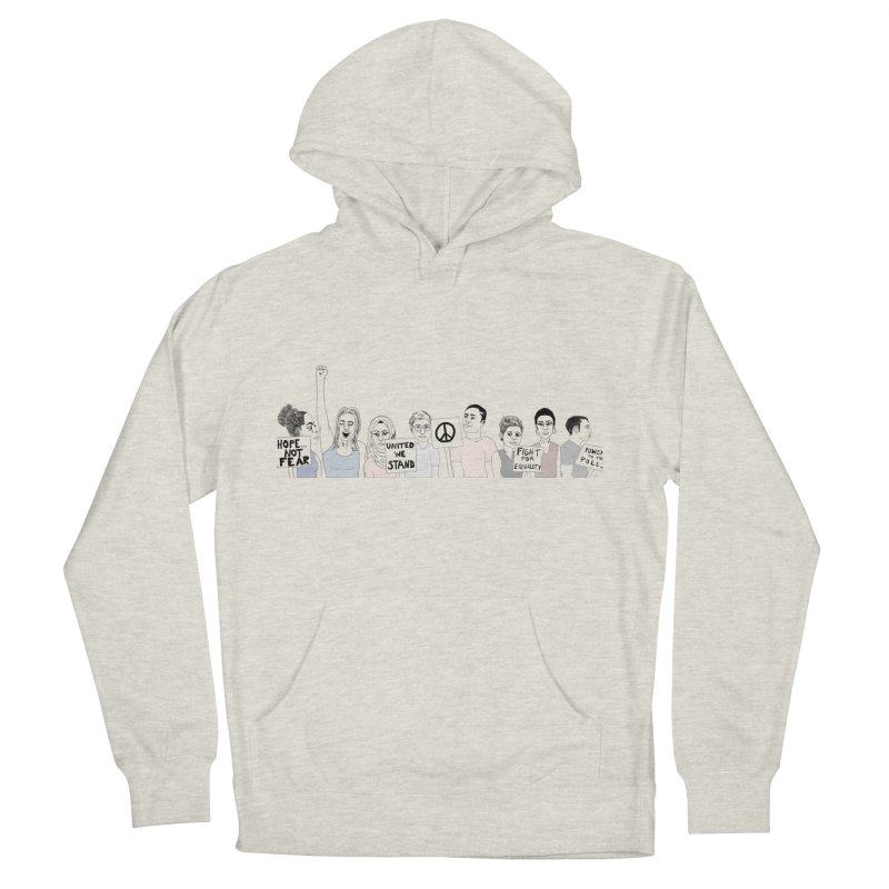 Together Women's French Terry Pullover Hoody by Alison Sommer's Artist Shop