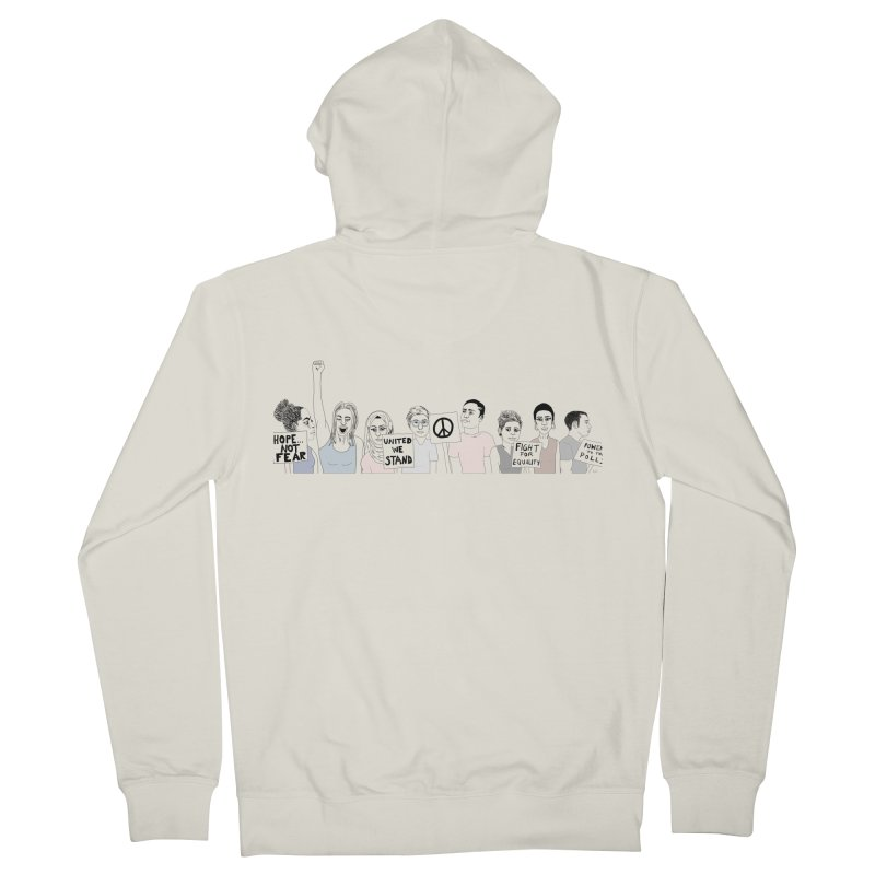 Together Women's French Terry Zip-Up Hoody by Alison Sommer's Artist Shop