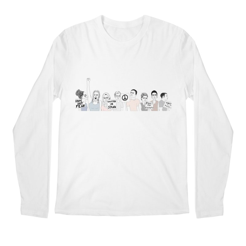 Together Men's Regular Longsleeve T-Shirt by Alison Sommer's Artist Shop