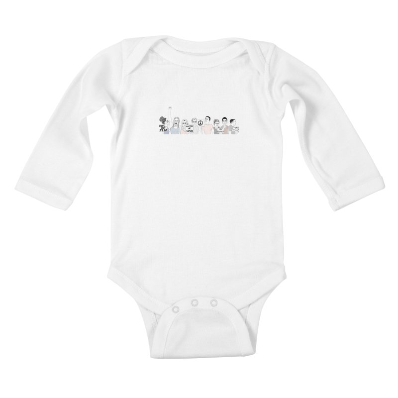Together Kids Baby Longsleeve Bodysuit by Alison Sommer's Artist Shop