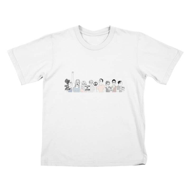 Together Kids T-Shirt by Alison Sommer's Artist Shop