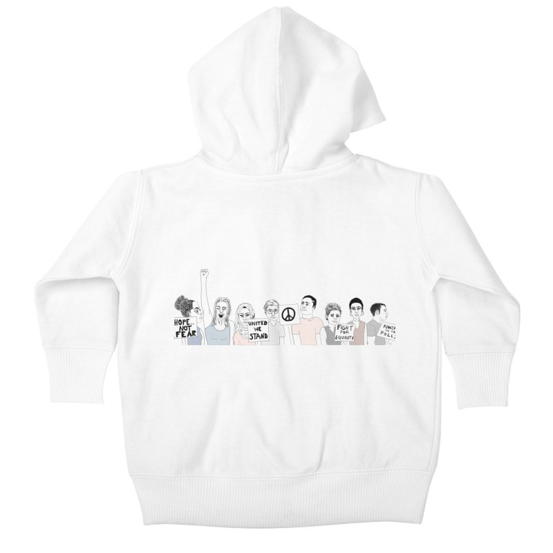Together Kids Baby Zip-Up Hoody by Alison Sommer's Artist Shop