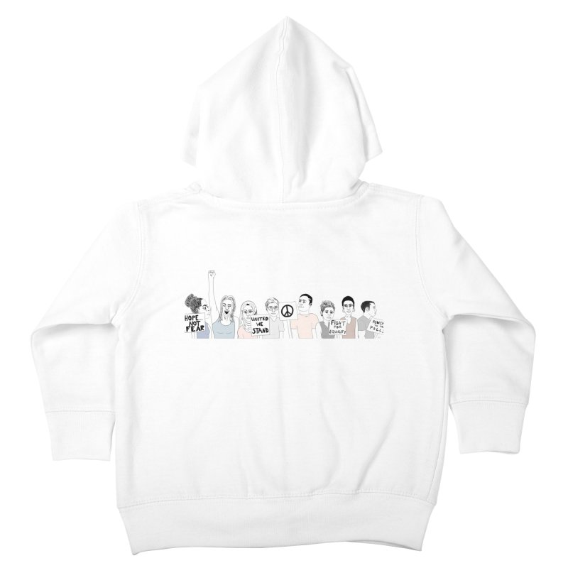 Together Kids Toddler Zip-Up Hoody by Alison Sommer's Artist Shop