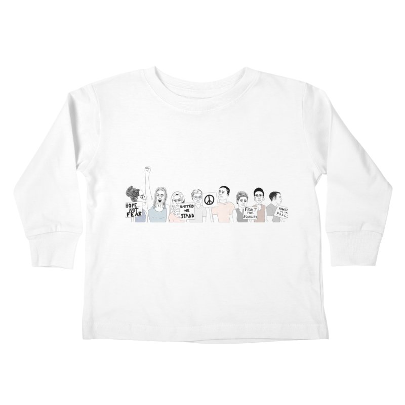 Together Kids Toddler Longsleeve T-Shirt by Alison Sommer's Artist Shop