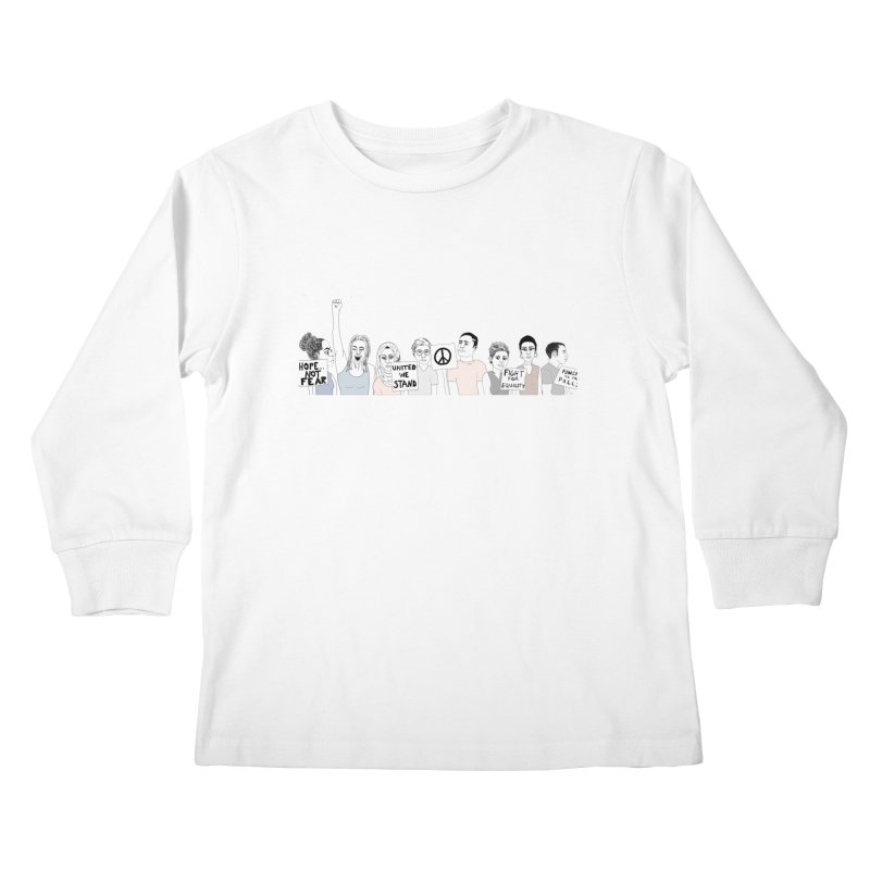 Together Kids Longsleeve T-Shirt by Alison Sommer's Artist Shop
