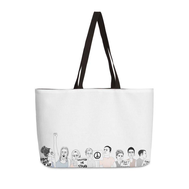 Together Accessories Weekender Bag Bag by Alison Sommer's Artist Shop