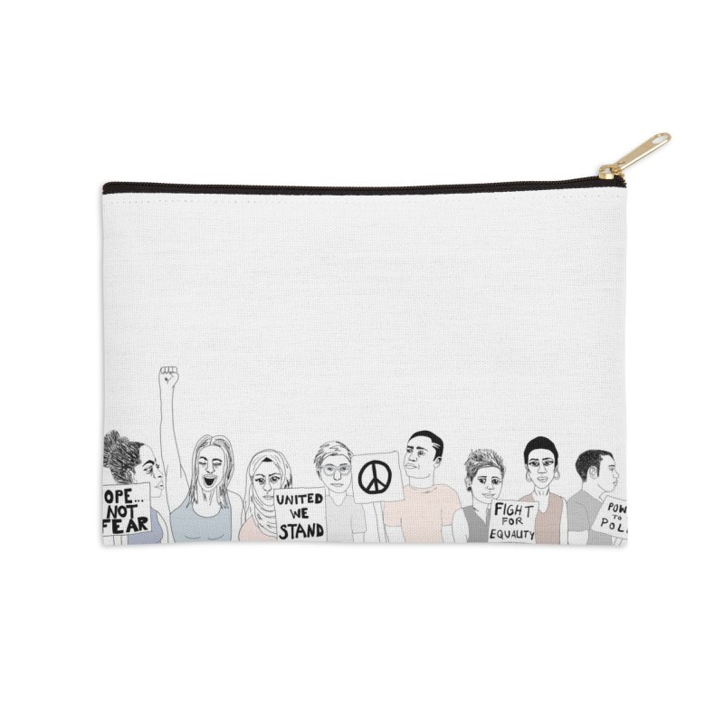Together Accessories Zip Pouch by Alison Sommer's Artist Shop