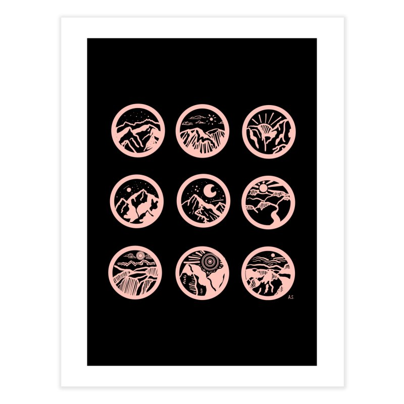 Pink/Black Mountains Home Fine Art Print by Alison Sommer's Artist Shop