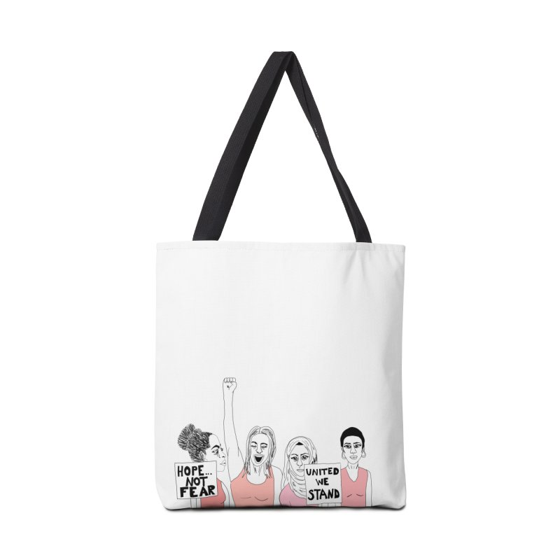 Unity (Pink) Accessories Tote Bag Bag by Alison Sommer's Artist Shop