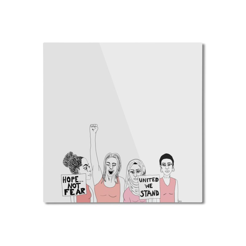 Unity (Pink) Home Mounted Aluminum Print by Alison Sommer's Artist Shop
