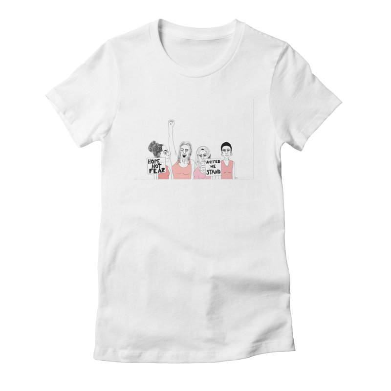 Unity (Pink) Women's Fitted T-Shirt by Alison Sommer's Artist Shop