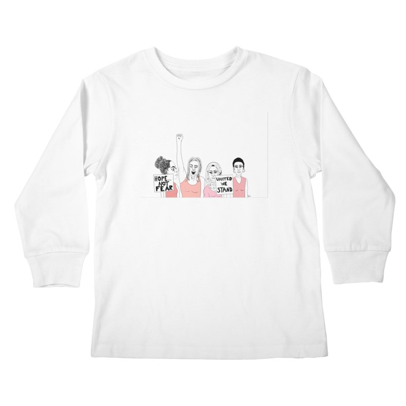 Unity (Pink) Kids Longsleeve T-Shirt by Alison Sommer's Artist Shop