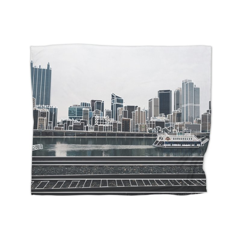 Pittsburgh Home Fleece Blanket Blanket by Alison Sommer's Artist Shop