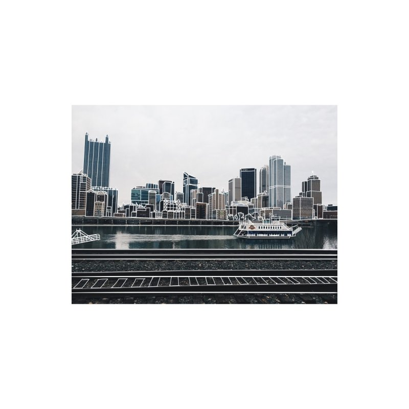 Pittsburgh Home Mounted Aluminum Print by Alison Sommer's Artist Shop