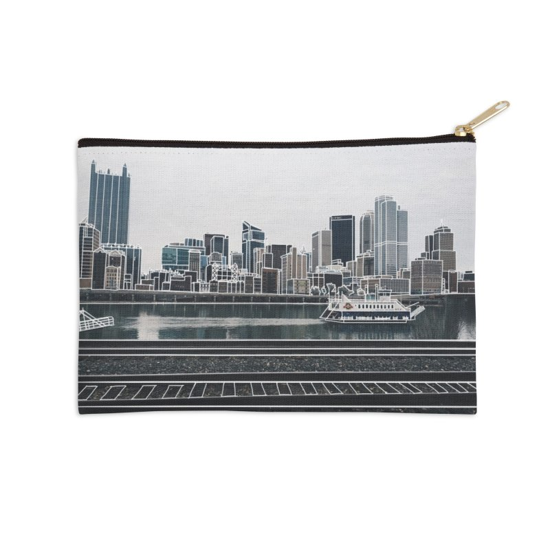 Pittsburgh Accessories Zip Pouch by Alison Sommer's Artist Shop