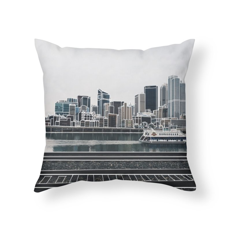Pittsburgh Home Throw Pillow by Alison Sommer's Artist Shop