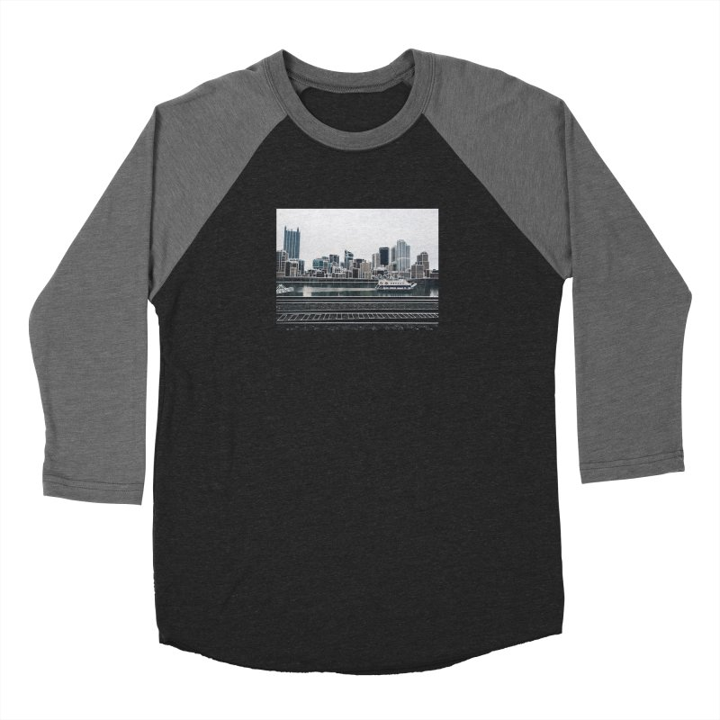 Pittsburgh Women's Baseball Triblend Longsleeve T-Shirt by Alison Sommer's Artist Shop