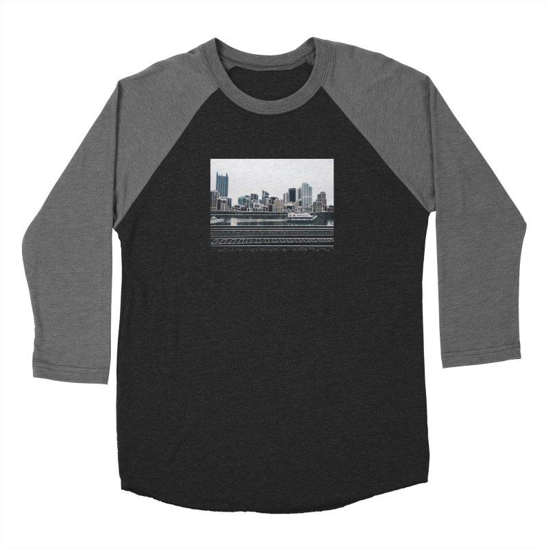 Pittsburgh Men's Baseball Triblend Longsleeve T-Shirt by Alison Sommer's Artist Shop