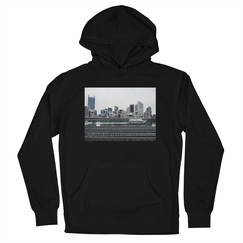 Pittsburgh Men's French Terry Pullover Hoody by Alison Sommer's Artist Shop