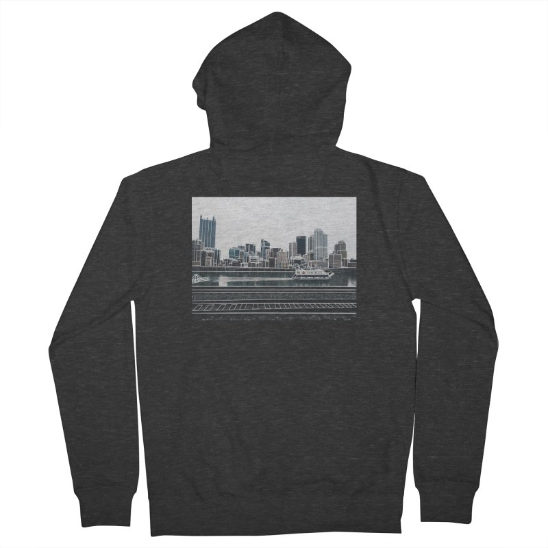 Pittsburgh Women's French Terry Zip-Up Hoody by Alison Sommer's Artist Shop