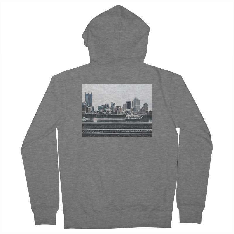 Pittsburgh Women's Zip-Up Hoody by Alison Sommer's Artist Shop