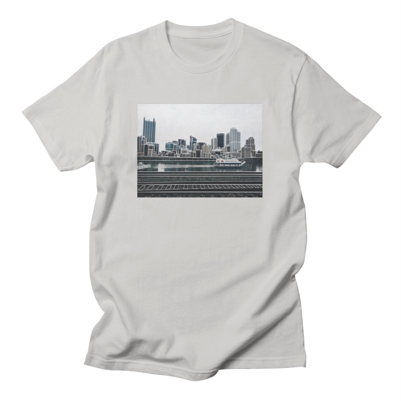 Pittsburgh Men's T-Shirt by Alison Sommer's Artist Shop