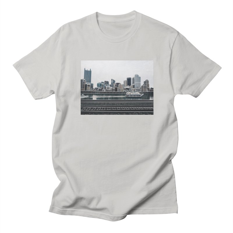 Pittsburgh Men's T-Shirt by Alison Sommer's Artist Shop