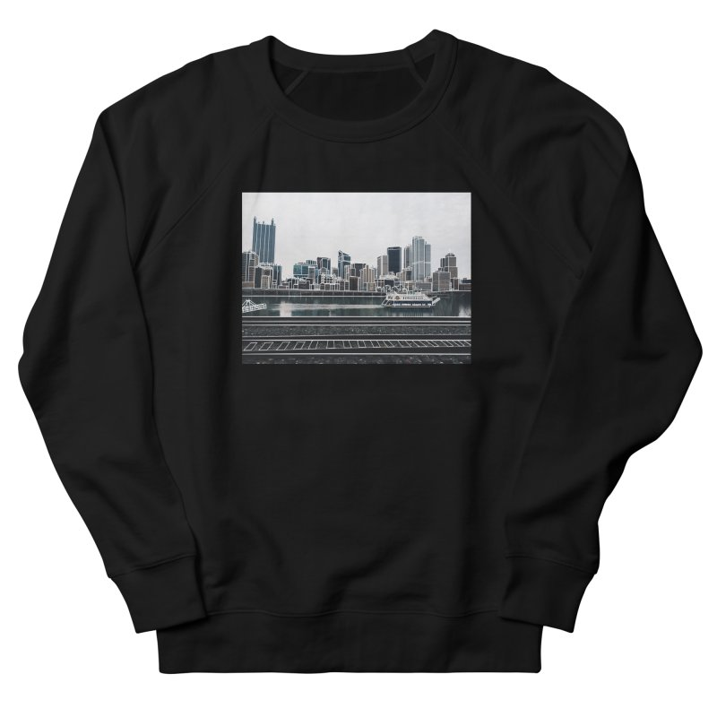 Pittsburgh Men's French Terry Sweatshirt by Alison Sommer's Artist Shop