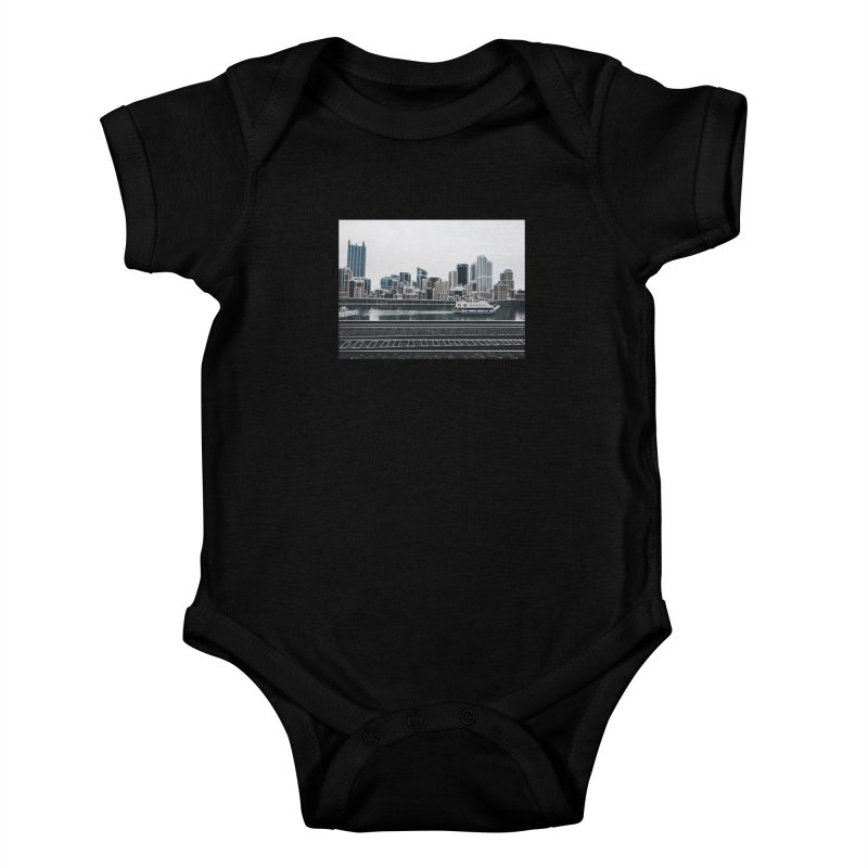 Pittsburgh Kids Baby Bodysuit by Alison Sommer's Artist Shop