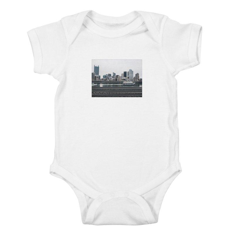 Pittsburgh Kids Baby Bodysuit by Alison Sommer's Artist Shop