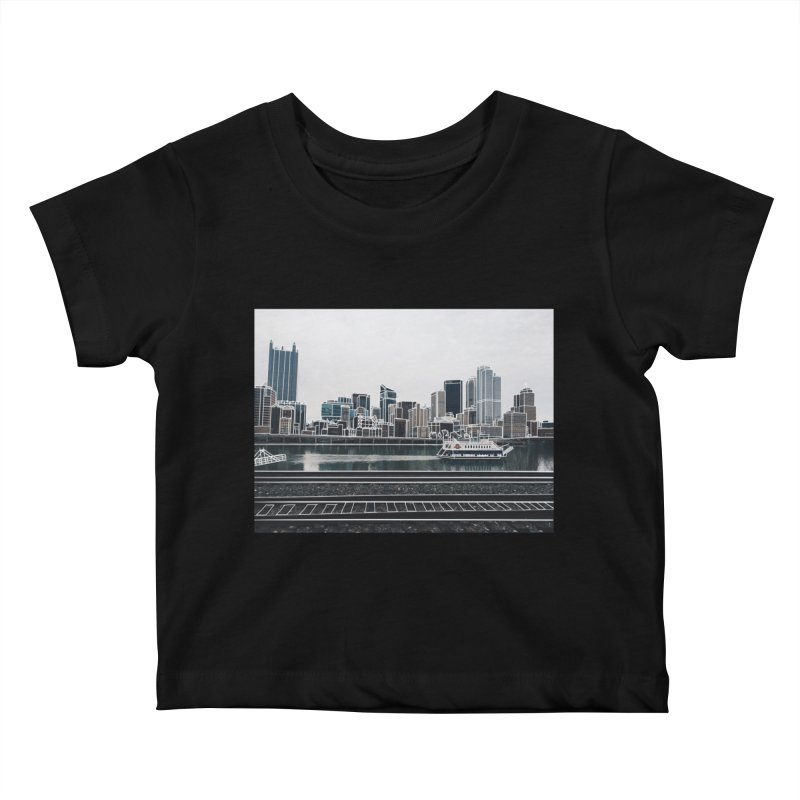 Pittsburgh Kids Baby T-Shirt by Alison Sommer's Artist Shop