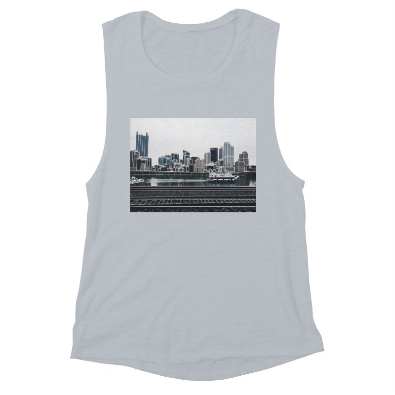 Pittsburgh Women's Muscle Tank by Alison Sommer's Artist Shop