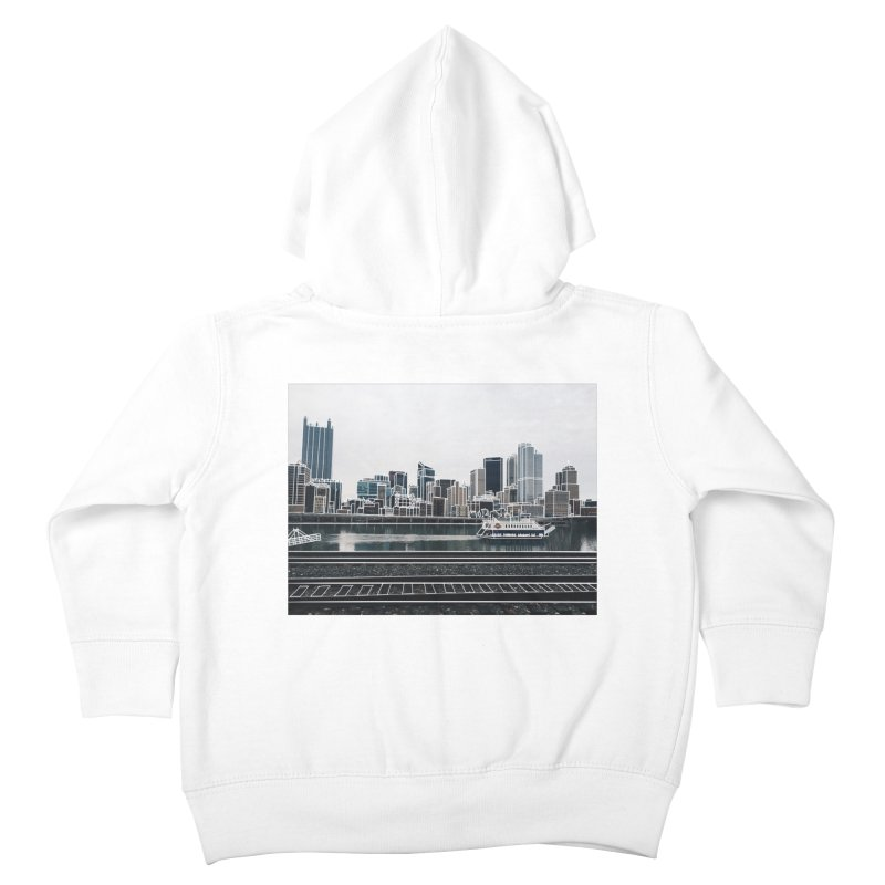 Pittsburgh Kids Toddler Zip-Up Hoody by Alison Sommer's Artist Shop