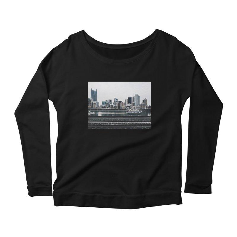 Pittsburgh Women's Scoop Neck Longsleeve T-Shirt by Alison Sommer's Artist Shop