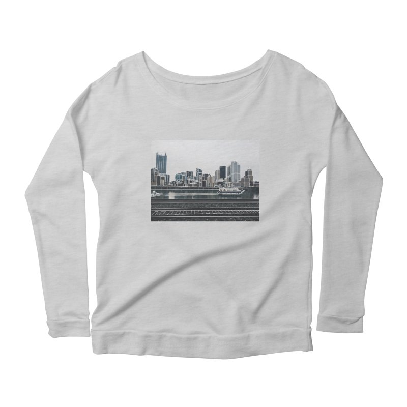 Pittsburgh Women's Scoop Neck Longsleeve T-Shirt by Alison Sommer's Artist Shop