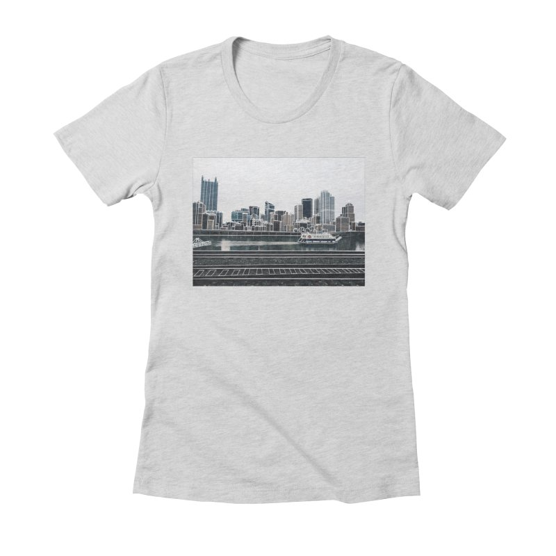 Pittsburgh Women's Fitted T-Shirt by Alison Sommer's Artist Shop